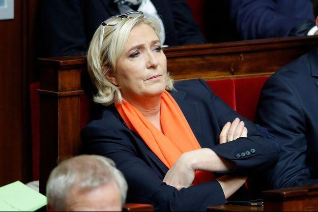 Marine Le Pen début décembre à l'Assemblée nationale.