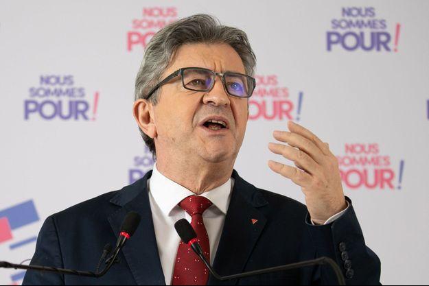 Jean-Luc Mélenchon mi-janvier lors de ses voeux à la presse.