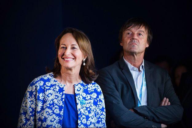 Ségolène Royal et Nicolas Hulot au Bourget, lors de la COP21, en décembre 2015.