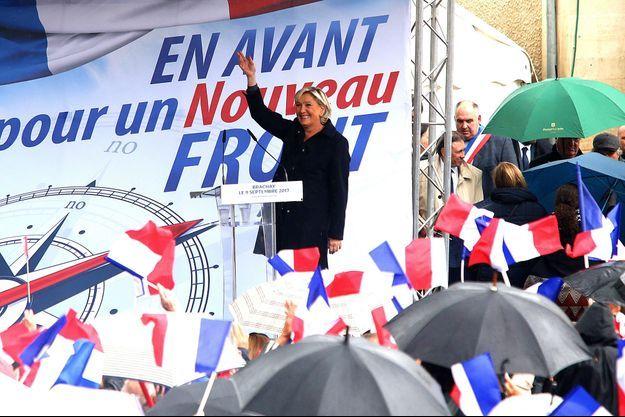 Marine Le Pen samedi à Brachay pour sa rentrée politique.