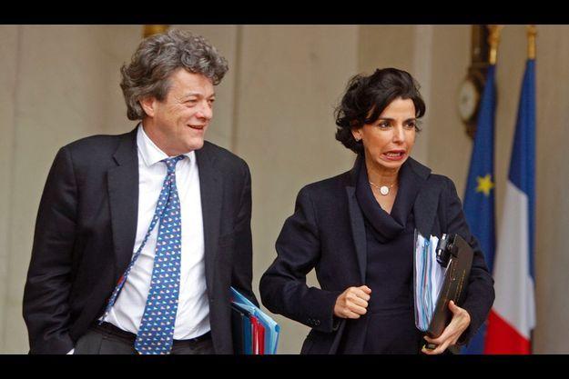 Jean-Louis Borloo avec Rachida Dati.