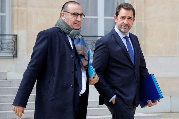 Christophe Castaner et Laurent Nuñez, à l'Elysée en avril dernier.