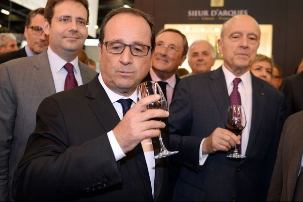 François Hollande en visite à Bordeaux, avec Alain Juppé, maire de la ville.