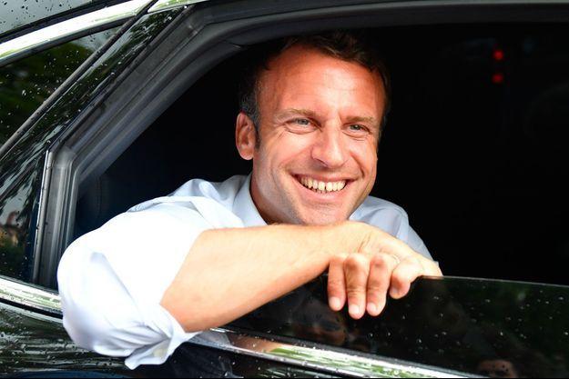 Emmanuel Macron à Bormes-les-Mimosas, le 27 juillet.