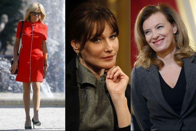 Brigitte Macron, Carla Bruni-Sarkozy et Valérie Trierweiler.