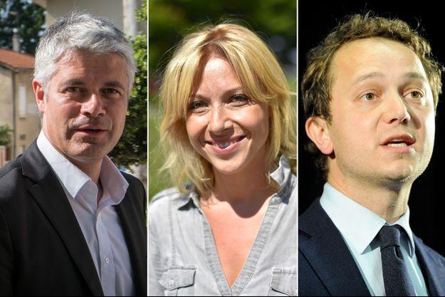 Laurent Wauquiez, Florence Portelli et Maël de Calan s'affronteront lors de l'élection à la présidence des Républicains.