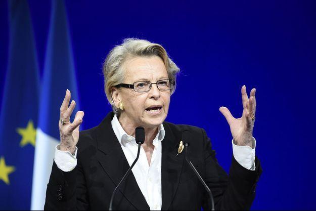 Michèle Alliot-Marie lors d'un meeting Les Républicains en février dernier à Paris.