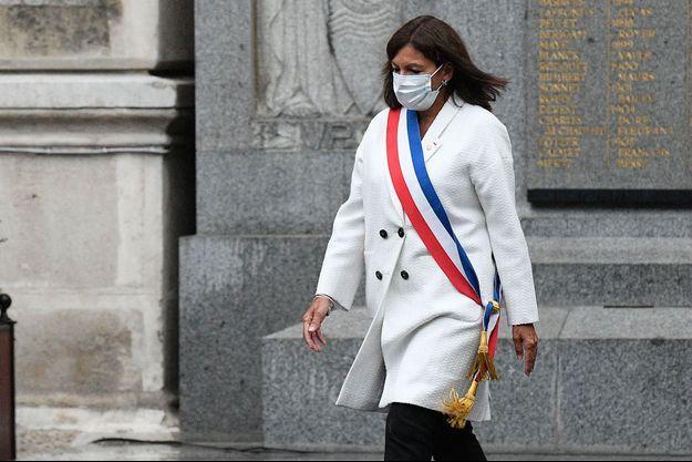 Anne Hidalgo, ici à Paris lors d'une cérémonie fin août.
