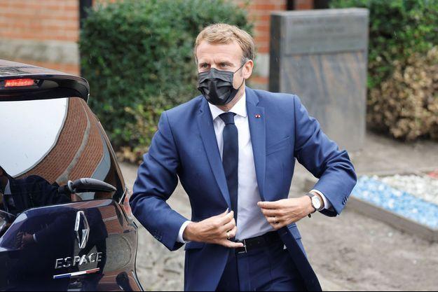 Emmanuel Macron à Roubaix le 14 septembre 2021.
