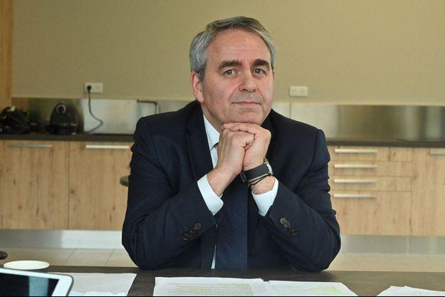 Xavier Bertrand, à Saint-Quentin, en mars dernier.