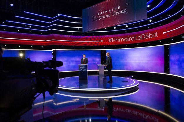Ici en novembre 2016, lors du débat entre Alain Juppé et François Fillon, finalistes de la primaire à droite.