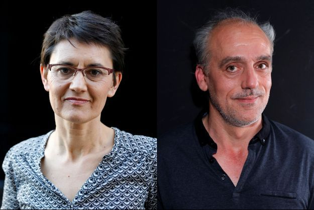 Nathalie Arthaud de Lutte Ouvrière et Philippe Poutou du Nouveau Parti Anticapitaliste