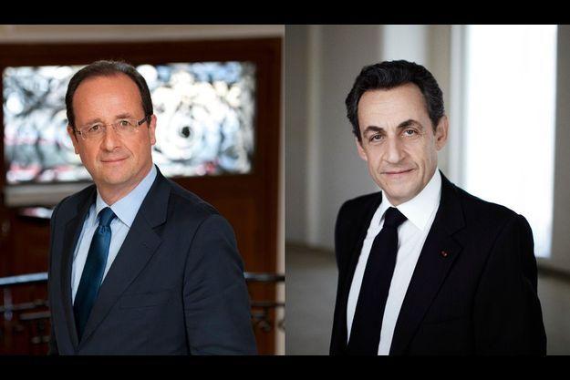 François Hollande et Nicolas Sarkozy.