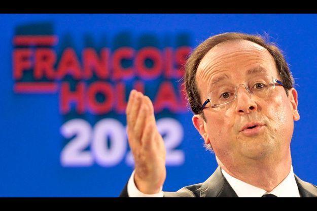 François Hollande, jeudi 26 janvier, lors de la présentation de son programme.