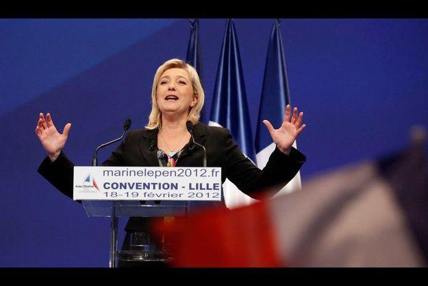 Marine Le Pen le 19 février à Lille.