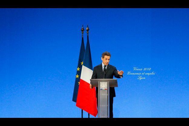 Nicolas Sarkozy a présenté ses vœux pour l'économie et l'emploi aujourd'hui à Lyon.