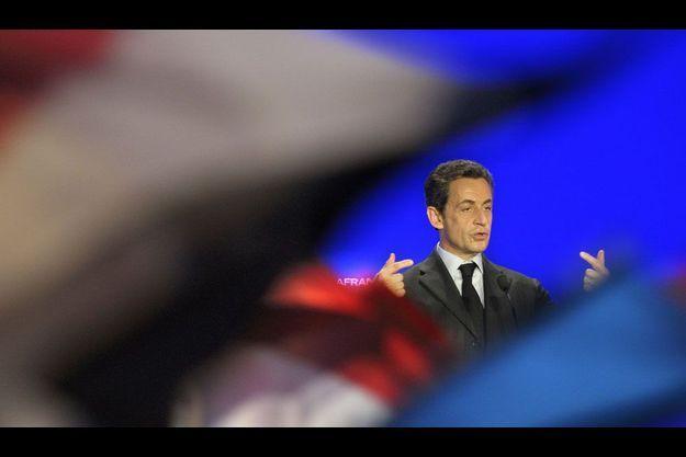 Nicolas Sarkozy jeudi à Recy, dans la Marne.
