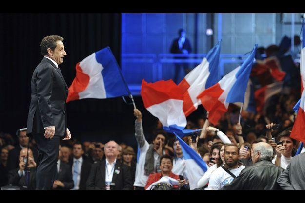 Nicolas Sarkozy, à Montpellier, mardi.