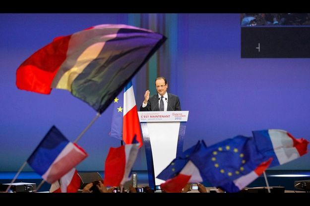 François Hollande en meeting à Diljon, samedi 3 mars.