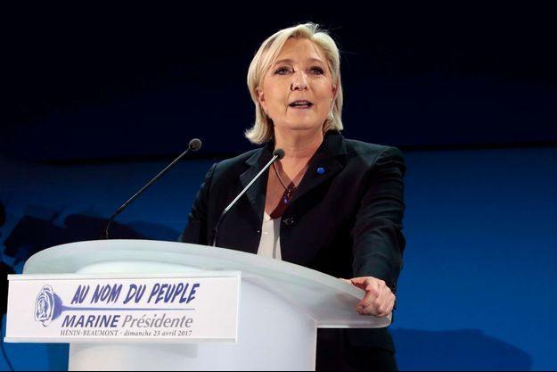 Marine Le Pen à Hénin-Beaumont.