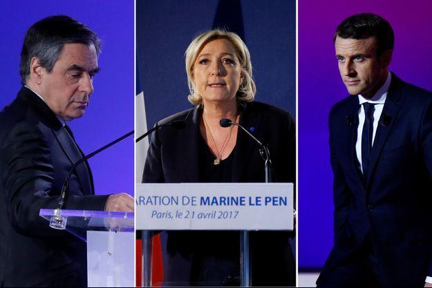 François Fillon, Marine Le Pen et Emmanuel Macron se sont exprimés vendredi depuis leur QG de campagne.