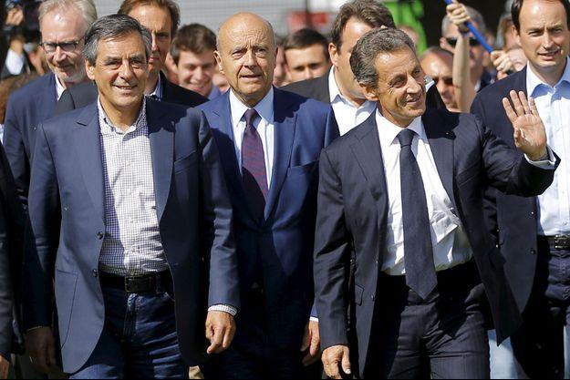 François Fillon, Alain Juppé et Nicolas Sarkozy en 2015