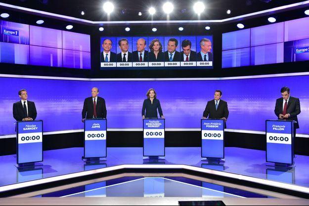 Avant le début du troisième et dernier débat de la primaire de la droite, jeudi soir, sur Europe 1 et France 2.