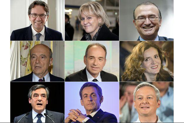 Frédéric Lefebvre, Nadine Morano, Hervé Mariton, Alain Juppé, Jean-François Copé, NKM, François Fillon, Nicolas Sarkozy, Bruno Le Maire