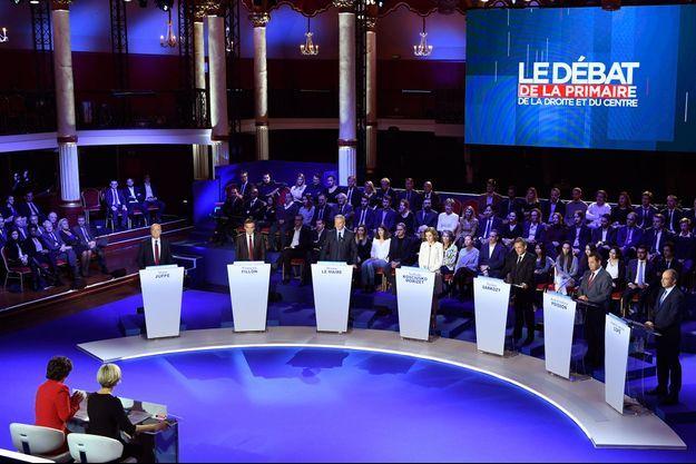 Les candidats à la primaire de la droite se sont affrontés salle Wagram à Paris.
