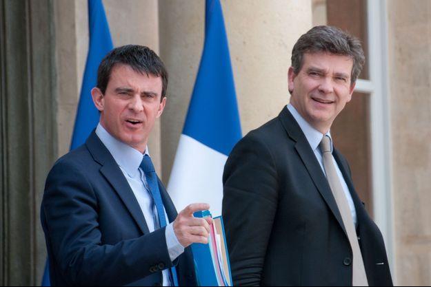 Manuel Valls et Arnaud Montebourg , ici en mai 2014 à l'Elysée.