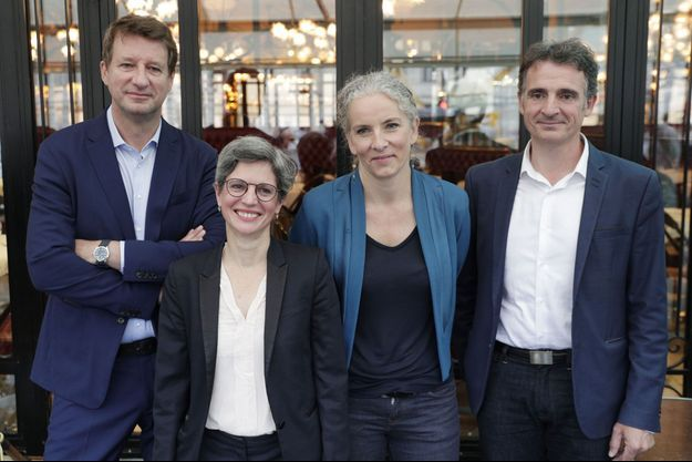 Yannick Jadot, Sandrine Rousseau, Delphine Batho et Eric Piolle, en juillet 2021.