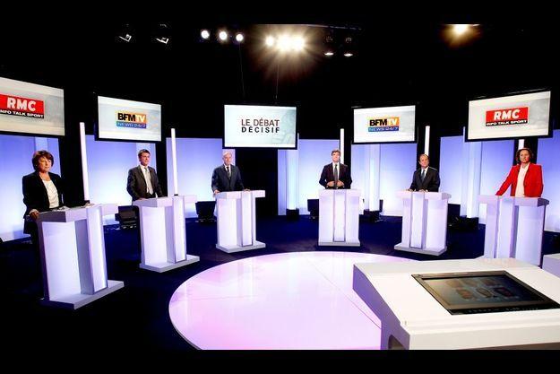 Le plateau du troisième débat de la primaire socialiste.