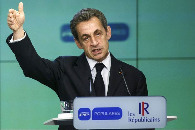 Nicolas Sarkozy à Madrid, lundi.