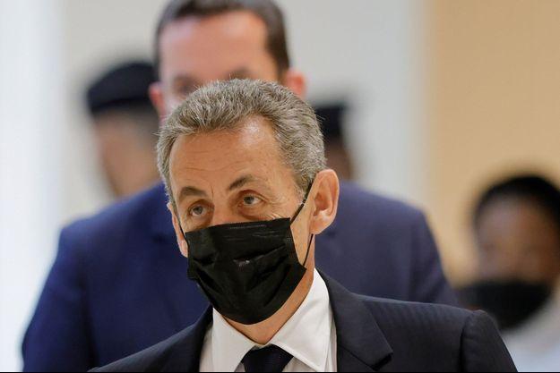 Nicolas Sarkozy, au tribunal mardi.