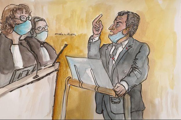 Nicolas Sarkozy au tribunal de Paris le 7 décembre 2020.