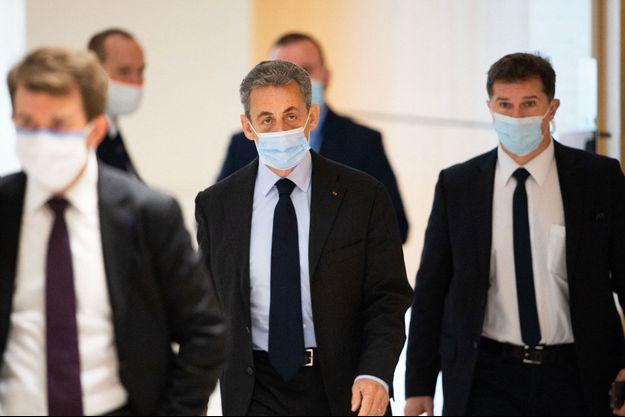 Nicolas Sarkozy au tribunal de Paris lundi.