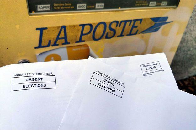Plis électoraux distribués par Adrexo.