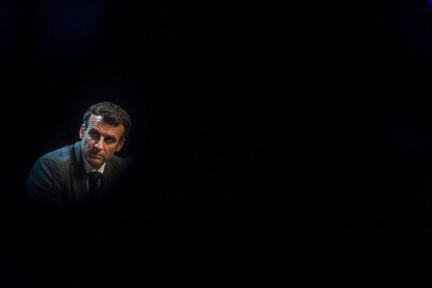 Emmanuel Macron au salon Vivatech, mercredi.