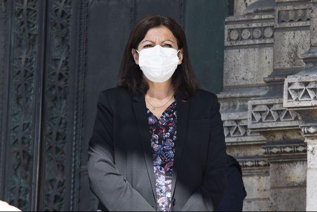 Anne Hidalgo à Paris le 9 avril 2020