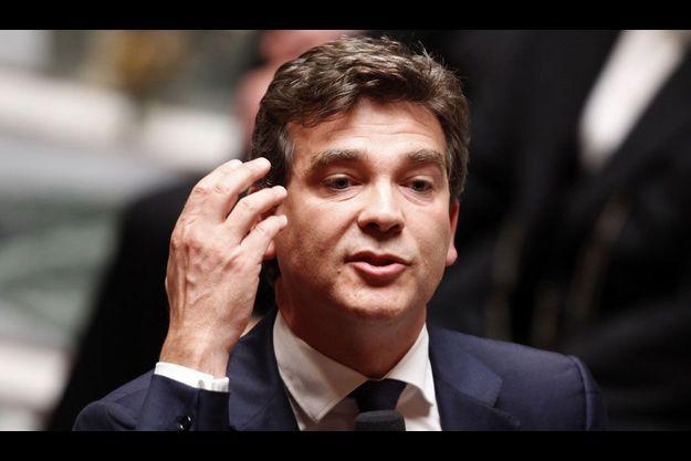 Arnaud Montebourg lors de la première séance de questions au gouvernement à l'Assemblée nationale.