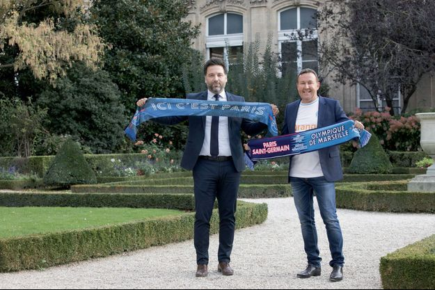 Le député LREM de Paris Hugues Renson et le député LR des Bouches-du-Rhône, Eric Diard.