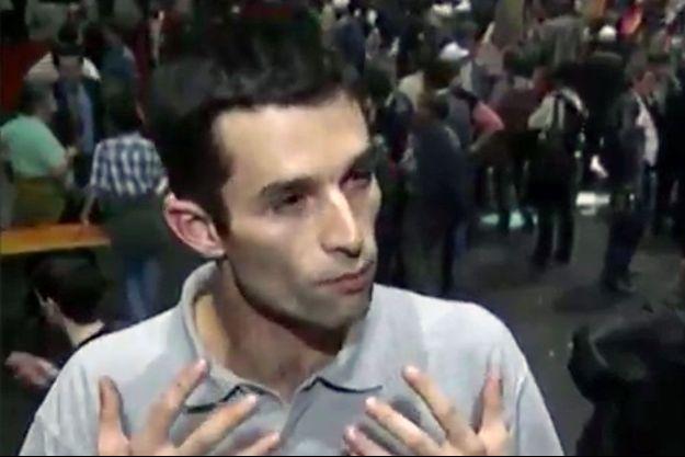 Benoît Hamon sur la vidéo diffusée par l'INA