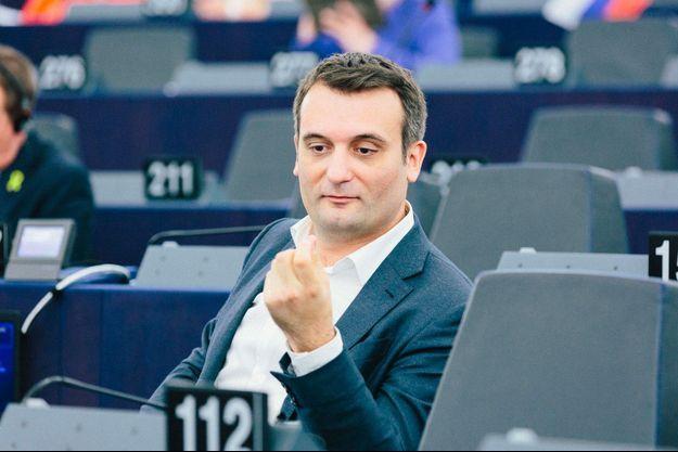 Florian Philippot au Parlement européen à Strasbourg, en juin dernier.