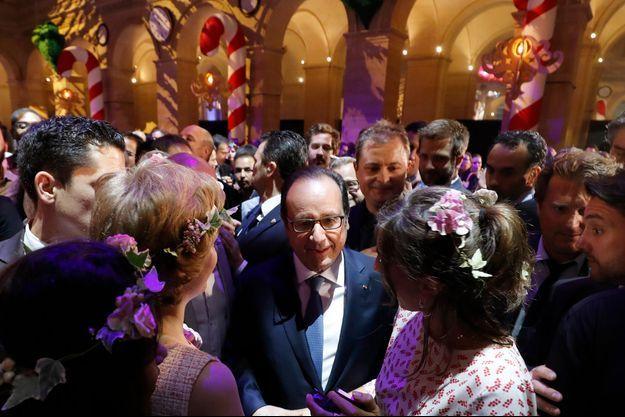 François Hollande au dixième anniversaire du Bon Coin.