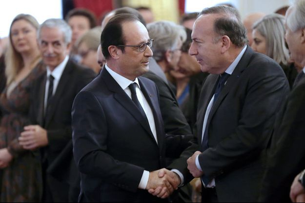 François Hollande et Pierre Gattaz à l'Elysée, le 19 janvier 2015.