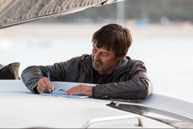 Nicolas Hulot en octobre 2018 lors du baptême d'un bateau à Dinard.