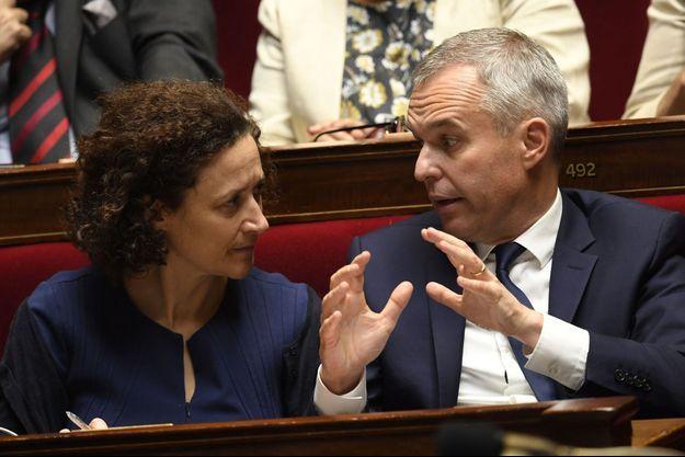 La nouvelle secrétaire d'État à l'Écologie Emmanuelle Wargon et François de Rugy, ministre de l'Environnement.