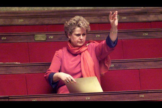 Christine Boutin à l'Assemblée nationale, le 2 décembre 1998, lors d'un débat sur le Pacs.