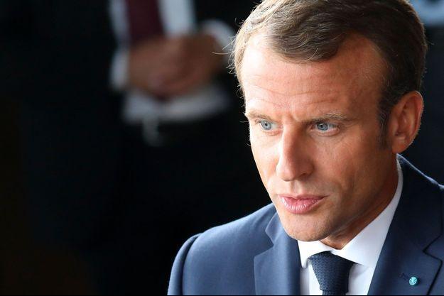Emmanuel Macron à Copenhague, mercredi.