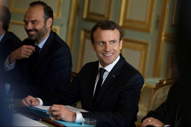 Edoaurd Philippe et Emmauel Macron , ici à l'Elysée en juillet 2017.